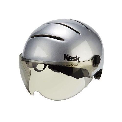 Kask lifestyle kask rowerowy dodatkowo wizjer srebrny 51-58 cm 2018 kaski miejskie i trekkingowe