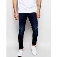 G-Star Jeans Defend Super Slim Skinny Fit Slander Indigo Superstretch Dark Aged - Blue, kolor niebieski