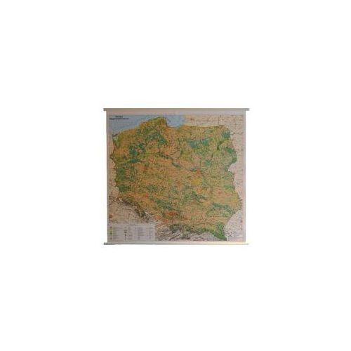 Polska mapa ścienna krajobrazowa 1:500 000 - TOPKART