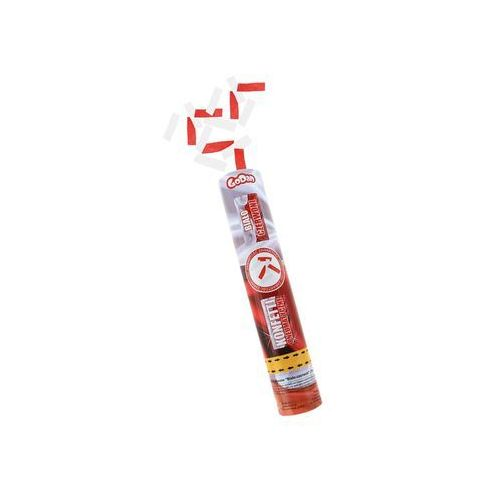 Tuba strzelająca konfetti Biało-Czerwone dla kibica - 30 cm - 1 szt. (5901238695301)