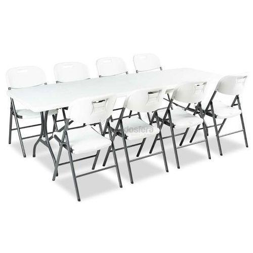 Garden point Zestaw stół cateringowy składany 180 cm + 8 krzeseł - transport gratis!