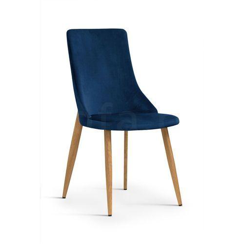 """Krzesło """"EGG"""" niebieskie, kolor niebieski"""