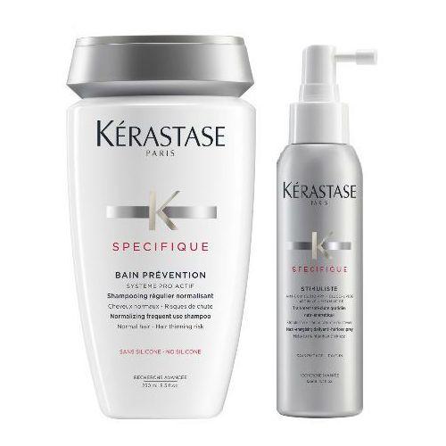 Kerastase Prevention and Stimuliste   Zestaw zagęszczający do włosów: kąpiel 250ml + spray przeciwko wypadaniu włosów 125ml