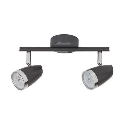 Listwa lampa oprawa sufitowa spot Rabalux Karen 2x4W LED antracyt / chrom 6513, 6513