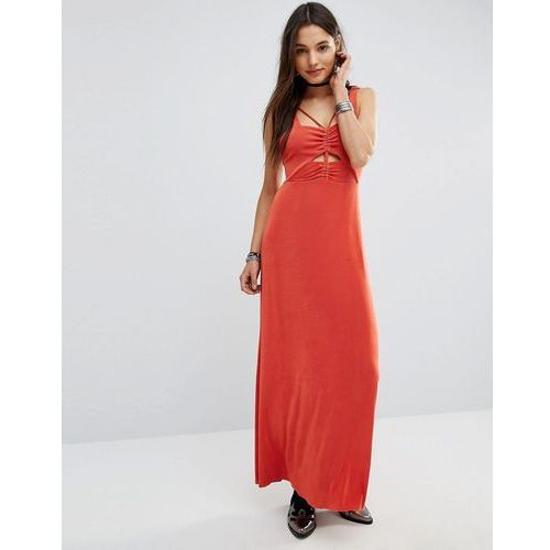 Free People Hypnotized Cut Out Harness Maxi Dress - Red