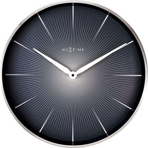 Zegar ścienny 2 Seconds, czarny cyferblat Nextime 40 cm (3511 ZW)