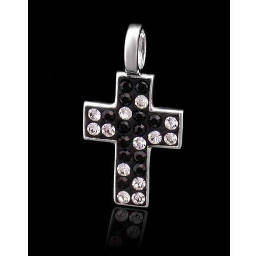 ?wisiorek krzyżyk ,rodowane srebro 925 ?i kryształy Swarovskiego