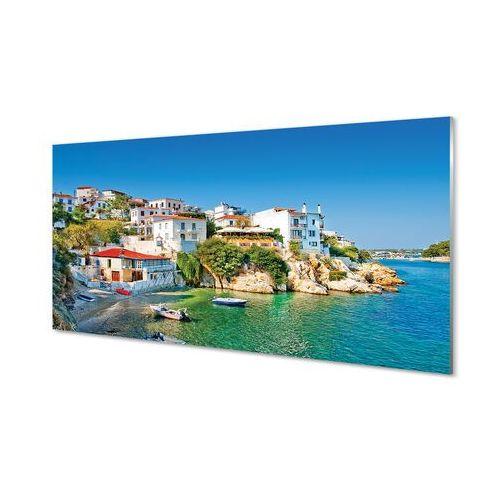 Tulup.pl Obrazy akrylowe grecja wybrzeże budynki morze