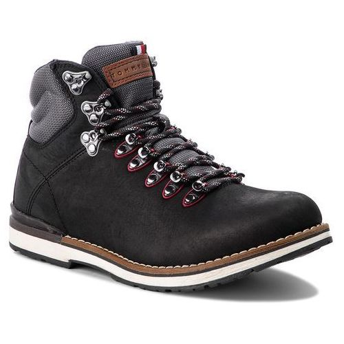 Trapery - outdoor hiking detail boot fm0fm01755 black 990 marki Tommy hilfiger