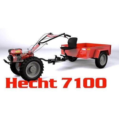 Hecht czechy Hecht 7100 set traktorek ogrodowy hecht 7100 set ciągnik ogrodniczy z przyczepą zestaw glebogryzarka spalinowa kultywator zestaw moc 7km dzik