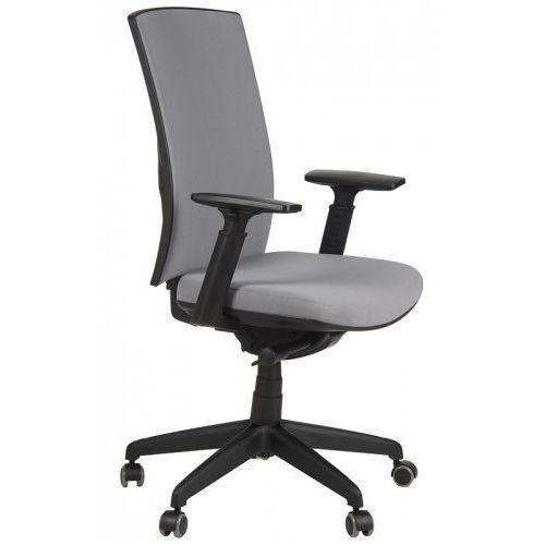 Stema - kb Krzesło biurowe obrotowe z wysuwem siedziska kb-8922b-s/szary, fotel biurowy