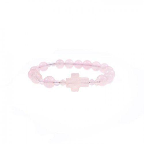 Bransoletka z kamienia kwarc różowy