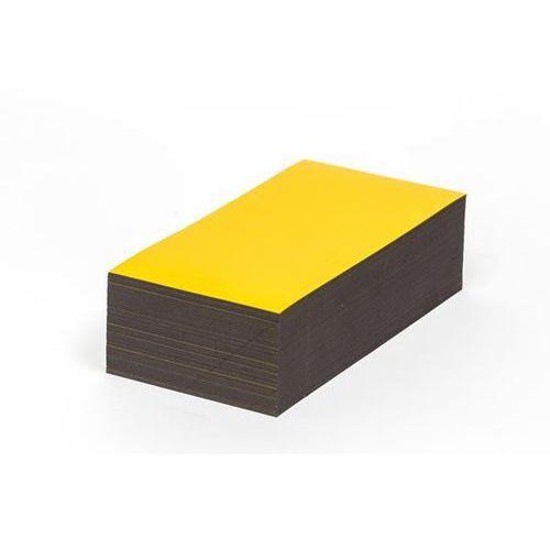 Haas Magnetyczna tablica magazynowa, żółte, wys. x szer. 100x150 mm, opak. 100 szt. z