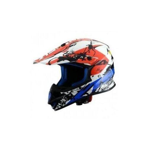 kask crossowy mx600 graphic giant blue/white/red marki Astone