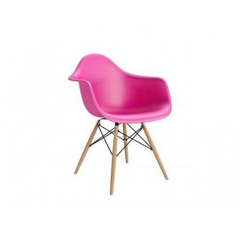 Krzesło p018w pp inspirowane daw - różowy ciemny marki D2.design