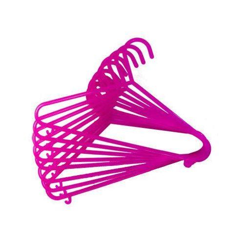 BIECO Wieszaki z tworzywa sztucznego 8 sztuk - kolor różowy (4005544441445)