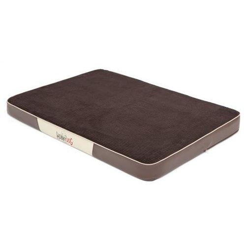 Xl materac premium - brąz sztruks i brązowa eko skóra marki Hobbydog