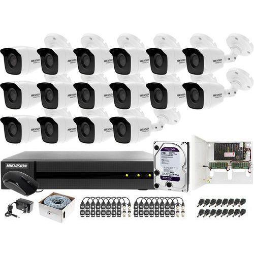 Monitoring 4MPx Samodzielny montaż po skrętce UTP HWD-6116MH-G2 16x HWT-B140-M 2TB