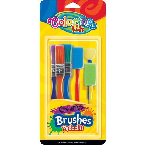 Pędzelki kreatywne colorino kids 6 sztuk marki Patio
