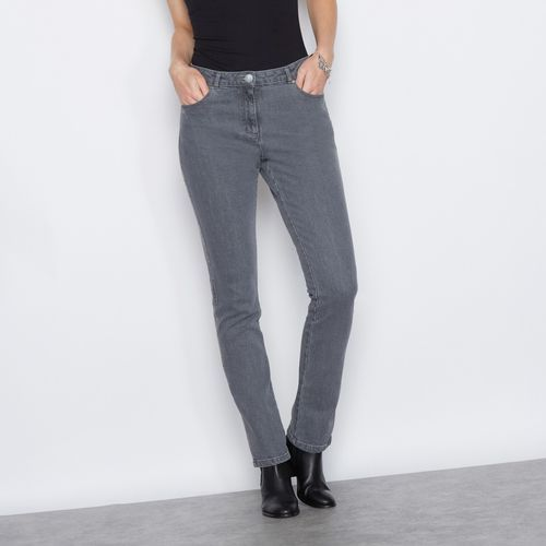 Haftowane dżinsy ze stretchem, jeansy