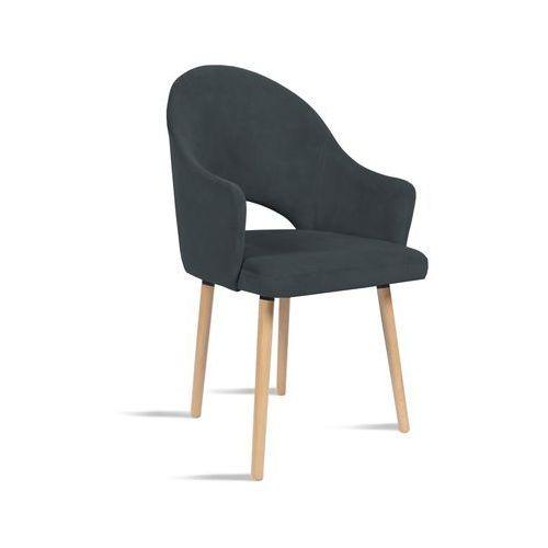 Krzesło bari ciemny szary/ noga dąb/ tr15 marki B&d