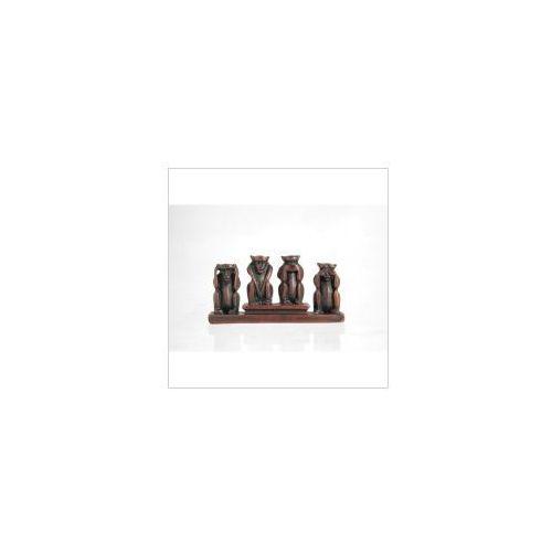 Veronese Cztery małe małpki na podstawce - kamień (amo003)