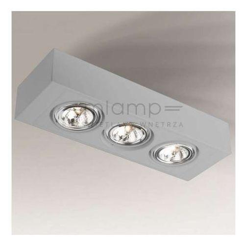 Shilo Spot lampa nastropowa uto h 1220/g53/sz regulowana oprawa prostokątna listwa szara