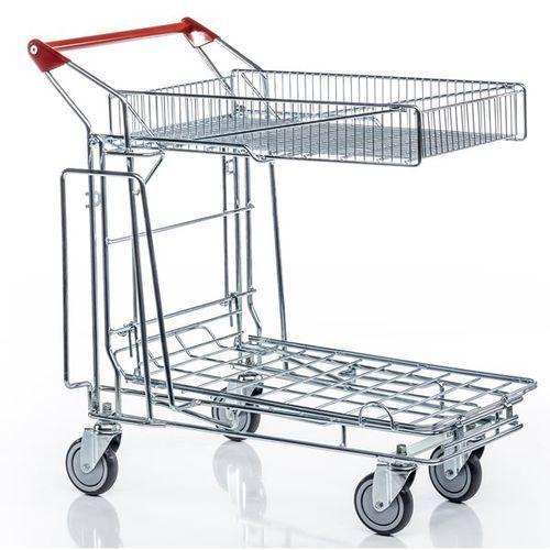 Uniwersalny wózek transportowy, 1 kosz na górze, 1 pałąk z boku, powierzchnia ła marki Unbekannt
