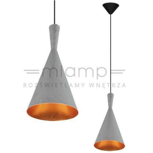 Lampa wisząca vicky 1108111 metalowa oprawa zwis stożek miedź szary marki Spotlight