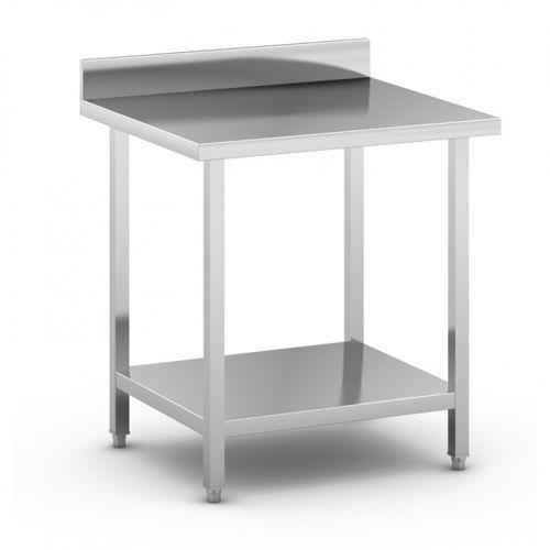 Stół roboczy ze stali nierdzewnej z półką, 800 x 700 x 850 mm marki B2b partner