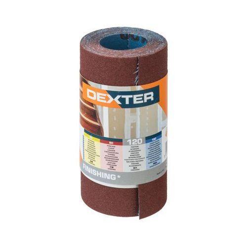 Papier ścierny rolka płótno p120 115 mm x 2.5 m marki Dexter