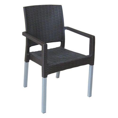 MEGA PLAST krzesło MP692 RATAN LUX, ciemnobrązowe (8606006429481)