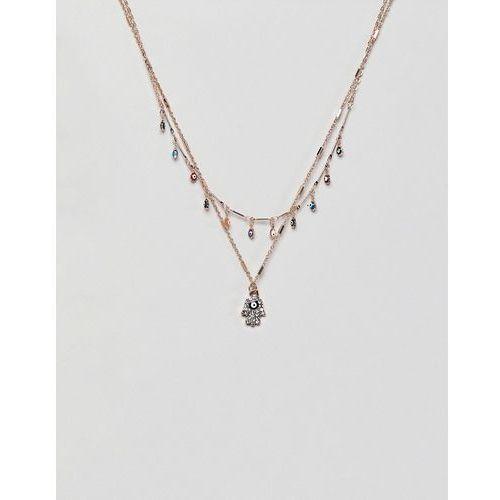 gold multi layer embellished cross necklace - gold marki Aldo