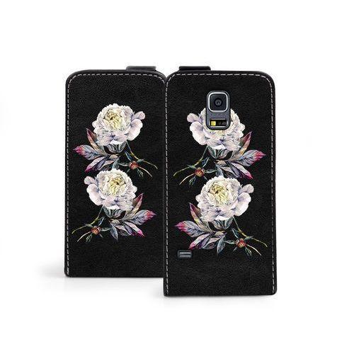 Samsung galaxy s5 mini - etui na telefon flip fantastic - piwonie marki Etuo flip fantastic