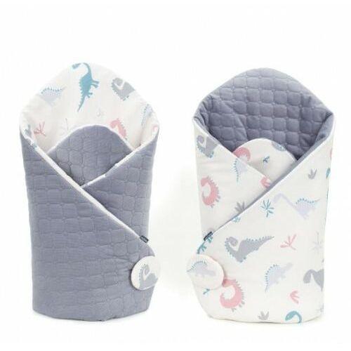 Mamo-tato Rożek niemowlęcy dwustronny velvet lux - dinusie/szary