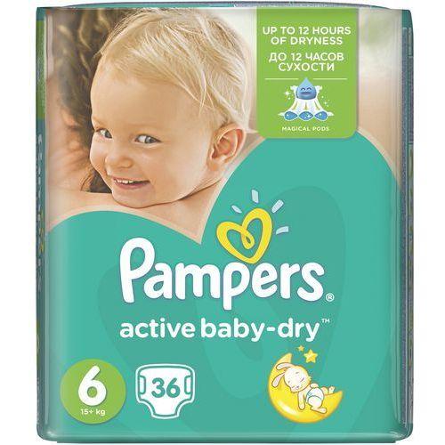 active baby pieluchy 6 extra large 36szt pieluszki marki Pampers. Najniższe ceny, najlepsze promocje w sklepach, opinie.