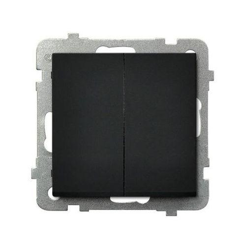 SONATA Łącznik podwójny zwierny 10AX czarny metalik IP20 ŁP-17R/m/33 Ospel (5907577446840)