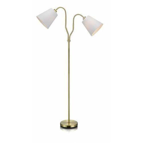 Lampa podłogowa modena mosiądz/biały 105274 - - mega rabat w koszyku negocjuj cenę online! / darmowa dostawa od 300 zł / zamów przez telefon 530 482 072 marki Markslojd