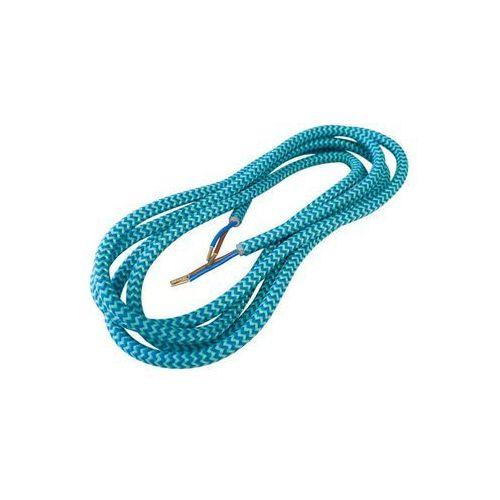 Przewód ELEKTRYCZNY DIC0630 W OPLOCIE TURKUS 3 m DPM SOLID, kolor turkusowy