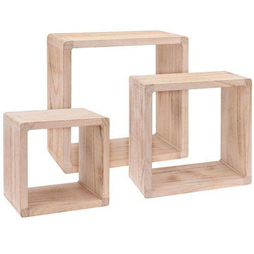 Home styling collection Drewniana szafka z szufladkami na drobiazgi, 3 przegródki