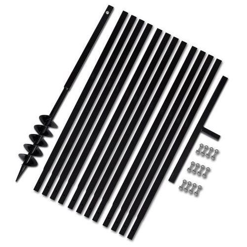 vidaXL Świder glebowy z uchwytem, 100 mm, rurą przedłużającą, 13 m, stal (8718475886082)