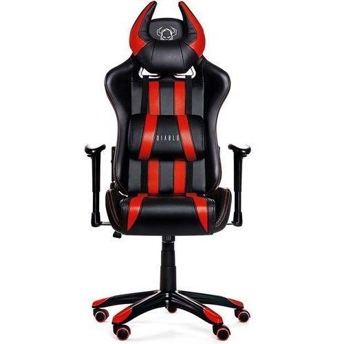 Diablo chairs Fotel x-one horn czarno-czerwony + zamów z dostawą jutro!