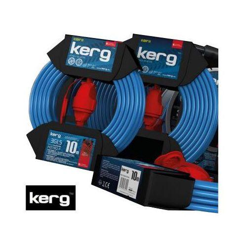 KERG Przedłużacz zwijany 10m 3x1,5mm2 niebiesko-czerwony (KG.02.1.3G.32.10.52)