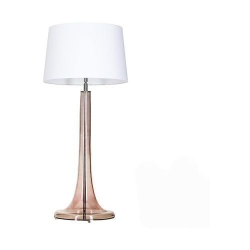 Lampa oprawa stołowa lozanna transparent copper 1x60w e27 biały l214382230 marki 4concepts
