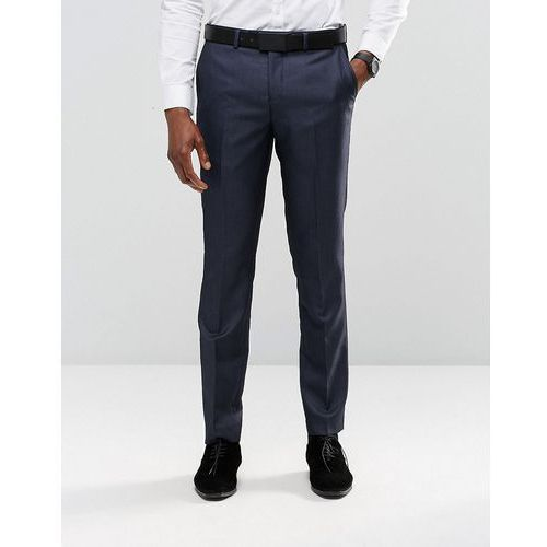 slim fit suit trousers in navy pindot - navy, marki River island