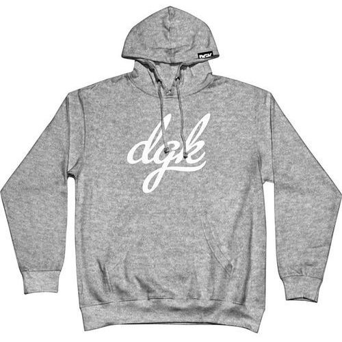 Dgk Bluza - script hooded fleece gunmetal heather (gunmetal heather) rozmiar: 2xl
