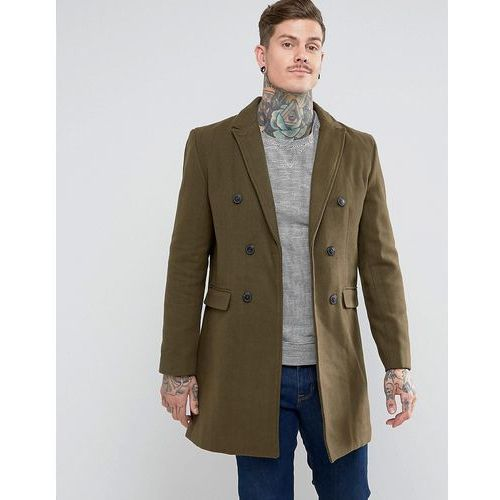 double breasted wool mix jacket - green, Bellfield