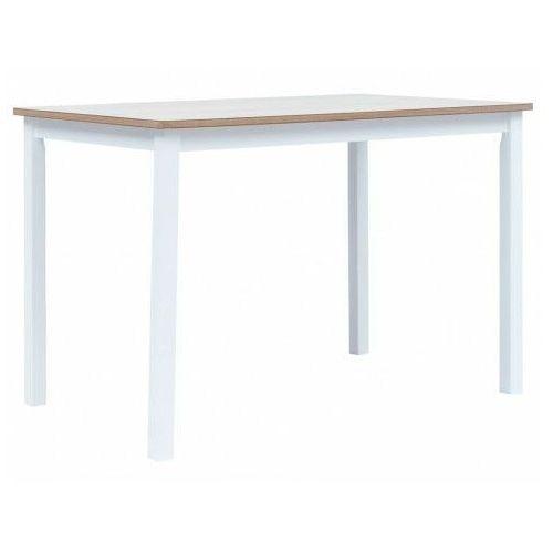 Elior Biało-brązowy stół z drewna kauczukowego – razel