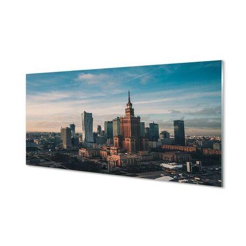 Tulup.pl Obrazy na szkle warszawa wieżowce panorama wschód słońca