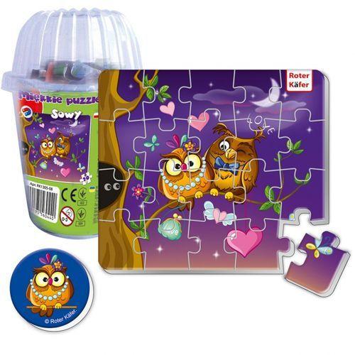 Magnesy piankowe puzzle sowy w kubku marki Roter kafer